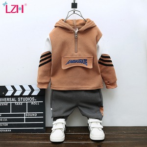 LZH Children Clothing Autumn Winter Casual Baby Boys Sportswear Hoodies+Pants Outfit Suit Kids Boys Clothes Sets 1 2 3 4 Years