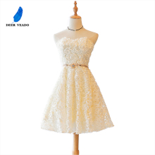 DEERVEADO XYG806 ТРАПЕЦИЕВИДНОЕ милое коктейльное платье новые женские Специальные вечерние платья выпускное платье vestidos de coctel