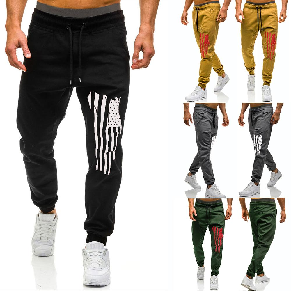 Fashion print Pants for Men Leisure Sweatpants Joggers amp Sweats Trousers Sports Fitness New Army green in Skinny Pants from Men 39 s Clothing