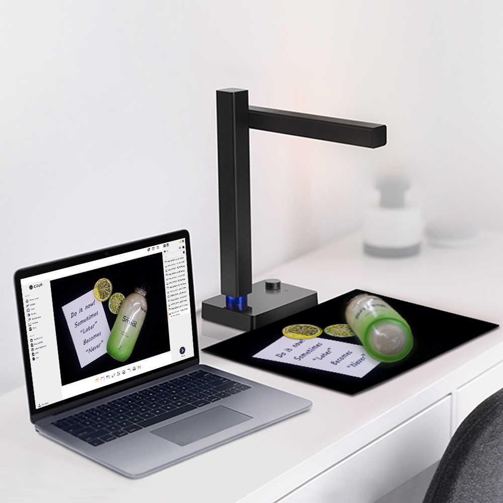 CZUR Glanz Pro Tragbare A4 Dokument Scanner USB 2,0 Schnelle Scanner mit OCR Funktion für MacOS und Windows Nicht Verfügbar für bücher