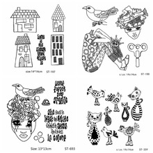 Cat Mushroom Beautiful Speckle Sattern Transparent Clear Stamps Silicone Seal for DIY Scrapbooking Card Photo Album Decor Craft