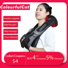 Electric-Neck-Roller-Massager Massage-Pillow Relaxation Shiatsu Infrared-Lamp Body-Health-Care