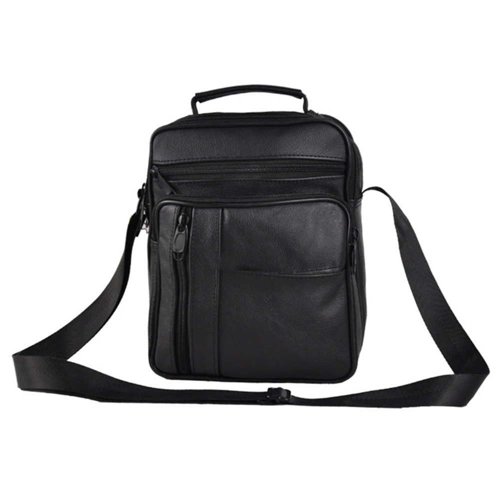Messenger Travel Single-shoulder Business Men Real Leather Cross Body Briefcase