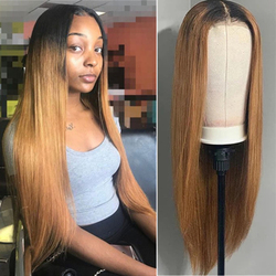 Bob dentelle frontale perruque cheveux humains brun Blonde droite 4x4 dentelle fermeture perruque Ombre dentelle avant perruques pour les femmes noires cheveux brésiliens