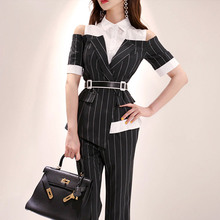 Summer Work Pant Suits OL 2 Piece Set for Women Business int