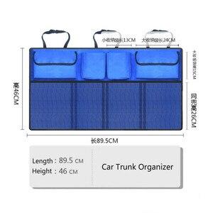 Image 5 - Multi Pocket Car Trunk Organizer Seat Back Storage Bag Large Capacity Adjustable Backseat Oxford Bag Universal Stowing Tidying