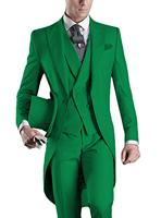 Mens 3 Pieces Suit Casual Formal Business Groomsmen White Burgundy Lapel Tuxedos For Wedding (Blazer+Pants+Vest)