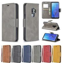 Flip Leather Phone Case For Samsung Galaxy S9 Plus Vintage Magnetic Wallet Card Holder Back Cover Coque