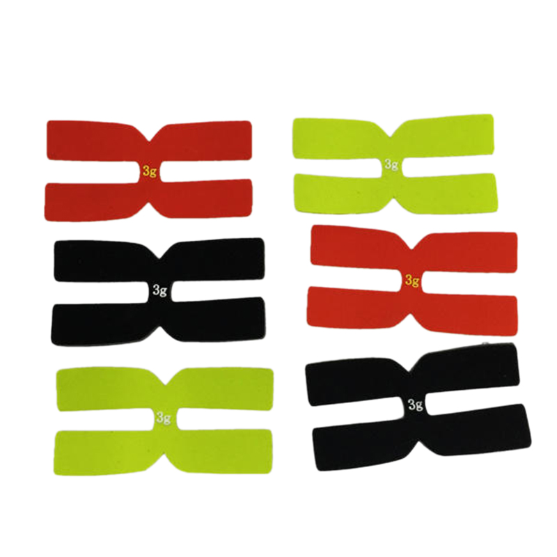 6Pcs 3G Tennis Racket Weight Balance Strips Silicone Tennis Racquet Tapes Balance Bar Tennis Racket Accessories