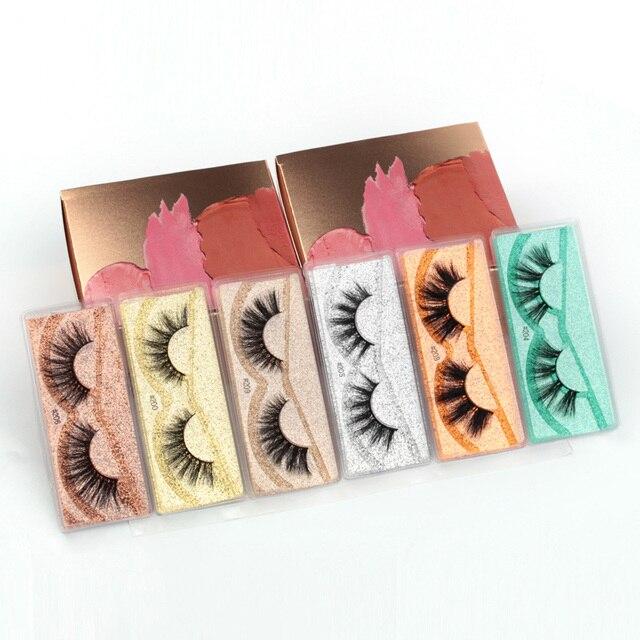 Mink Lashes Wholesale 5/20/30/40/100 Pairs 3D Mink Eyelashes Faux Cils Makeup Dramatic False Eyelashes In Bulk Natural Lashes 3