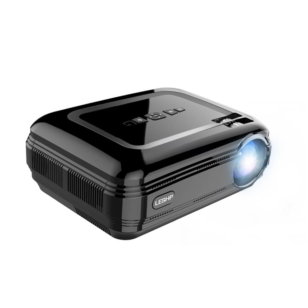 Projecteur LED Portable noir projecteur vidéo Home cinéma cinéma jeu projecteur HDMI VGA USB WIFI pour Android
