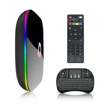 Q+Smart TV Box Android 9.0 2/4GB+12/32/64GB TV Box QuadCore 2.4G WiFi TVBox Media Player With Keyboard