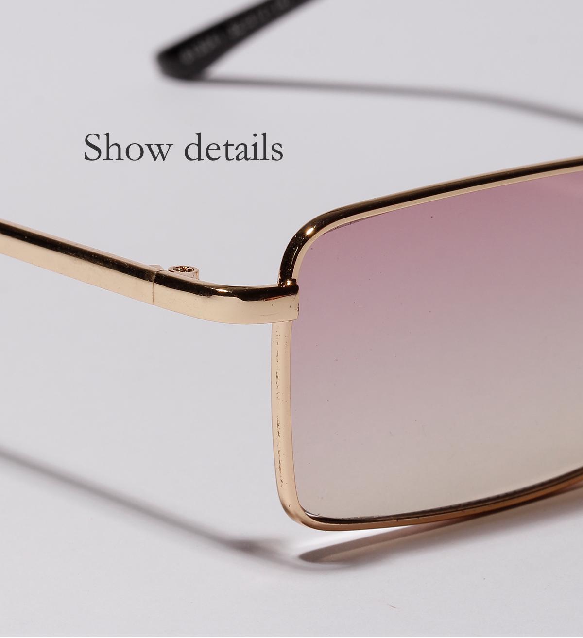 New sunglasses double beam small Metal frame square sunglasses