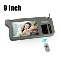 9inch Car Video Sunvisor Screen LCD Monitor Right Touch Button Side 2 Channel For DVD/VCD/GPS/TV Input Signal Rearview Camera
