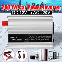 2000W DC 12V to AC 220V USB Car Power Inverter Charger Converter Adapter DC 12 to AC 220 Modified Sine Wave Transformer