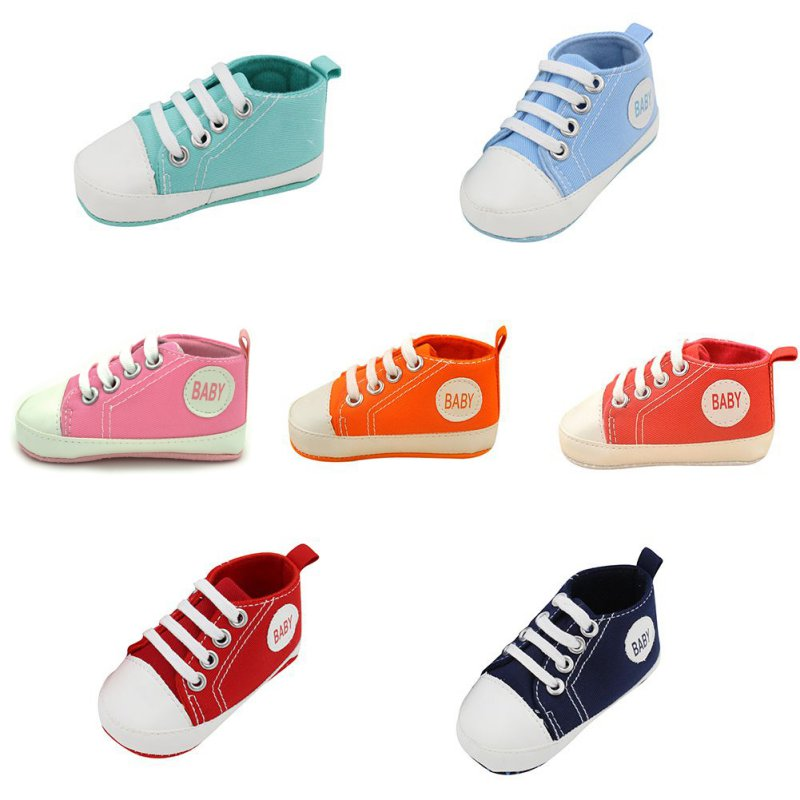 Baby Canvas Shoes Newborn Shoes Baby Walker Infant Toddler Soft Bottom First Walkers For Girls Boys
