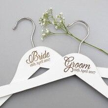 Вешалки для свадебного платья, вешалка для невесты, подарок для невесты-Свадебные вечерние, персонализированная белая Свадебная Вешалка