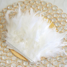 43 Colors 1 yards Dyed White Turkey Feathers Fringe Trims 4-6 inches Fluffy Marabou Feathers for Wedding Dress Sewing Accessory 2yards lot turkey feather fringe ribbon 5 6inch chandelle marabou turkey feathers trim skirt dress feather decoration plumas diy