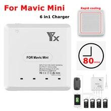 Batteria Caricatore per DJI Mavic Mini Batteria di Ricarica Telecomando US EU UK AU Spina 6 IN 1 drone Accessori