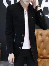 Мужская шерстяная однобортная куртка облегающее пальто в английском