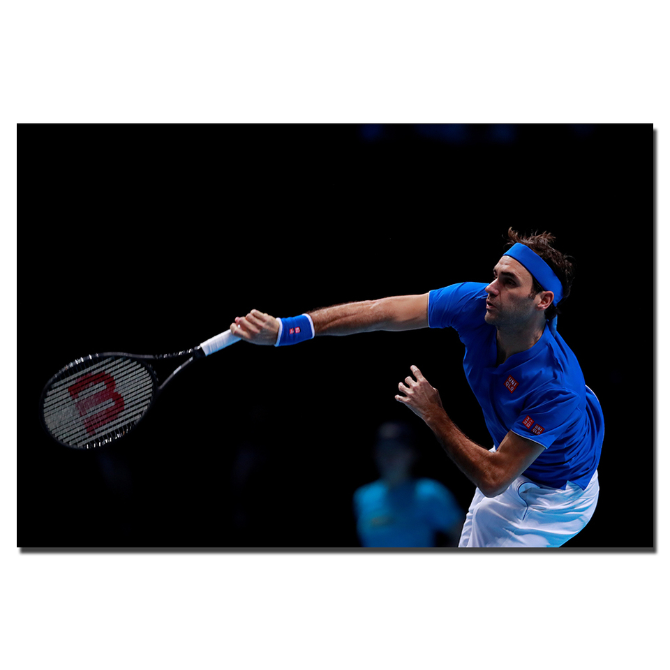 1 Piece Canvas Painting Roger Federer Tennis Player Hd Posters And Prints Wall Pictures For Living Room Aliexpress