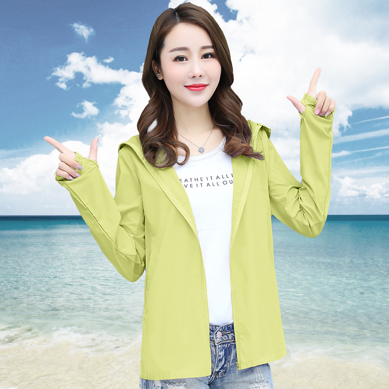 2019 New Style Cycling Clothing Sun Protection Clothing Women's Uv-protection Short Versatile Korean-style Summer Jacket Women S