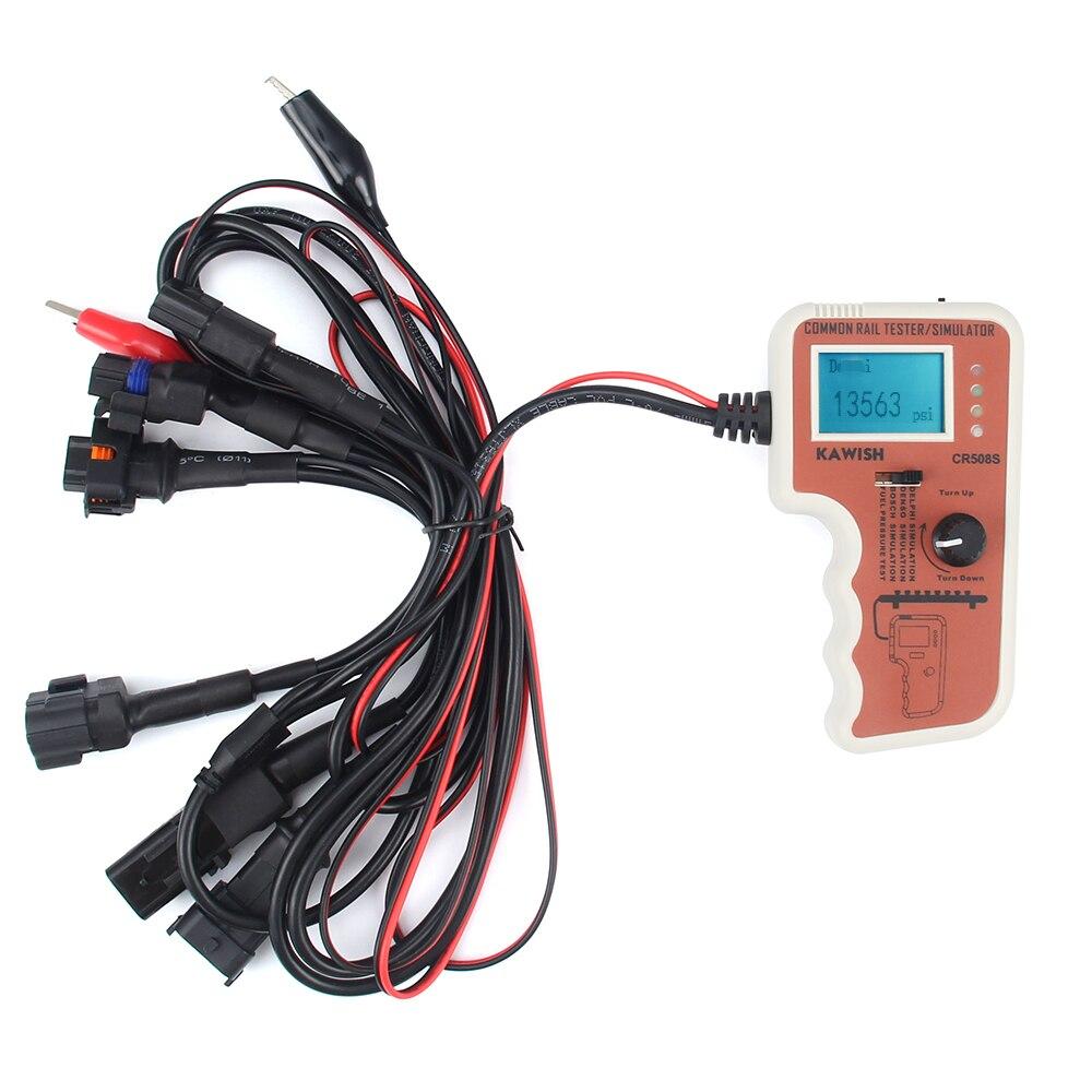 Livre o navio cr508 s verificador e simulador de pressão do trilho comum digital para a ferramenta diagnóstica do motor da bomba de alta pressão, mais função