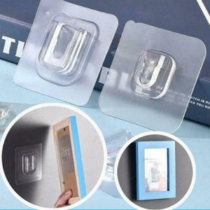 Double-sided Adhesive Wall Hooks Transparent Hooks Suction Wall Sucker Storage Strong Holder For Kitchen Bathroom Bedroom