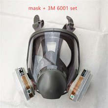 6800 Gas Mask add 3M 6001 Cartridge  7pcs suit Full Face Facepiece Respirator For Painting Spraying