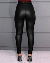 Fashion Women's Leggings PU Leather