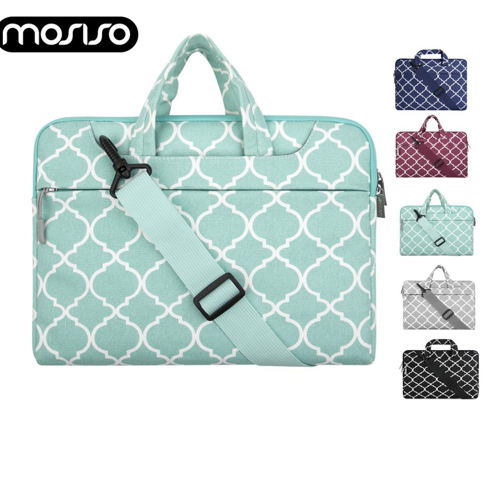 MOSISO Canvas Laptop Shoulder Bag Case For Macbook Air Pro Asus HP Lenovo 11 13 14 15 15.6 Inch Notebook Computer Bags Briefcase