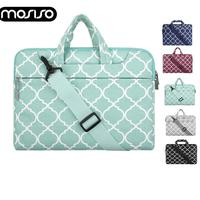 MOSISO Canvas Laptop Sleeve Shoulder Bag for Macbook Air Pro Asus HP Lenovo 11 13 14 15 15.6 inch Notebook Computer Case Bags