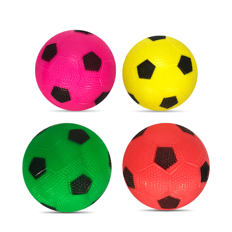 Small Granule Inflatable Football CHILDREN'S Toy pai qiu Kindergarten Children Play Fun Supplies Hot Selling image