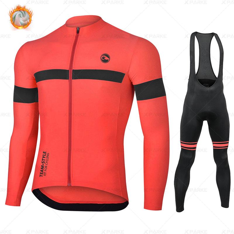 2020 Winter Fleece Pro Cycling Jersey Set Mountian Bicycle Clothes Wear Ropa Ciclismo Racing Bike Clothing Cycling Set STRAVA