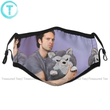 Winter Soldier Mouth Face Mask Sebastian Stan And Friend Facial Mask Funny Fashion with 2 Filters for Adult