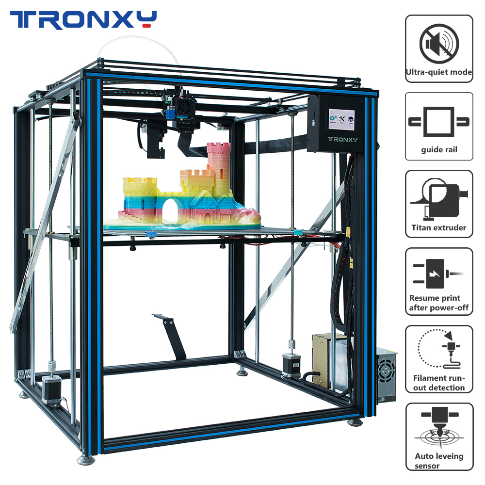 2019 Tronxy X5SA-<font><b>500</b></font> PRO Upgraded <font><b>3D</b></font> <font><b>Printer</b></font> FDM Linear Guide Rail High Precision Large Size Ultra-quiet Auto Leveling Newest image