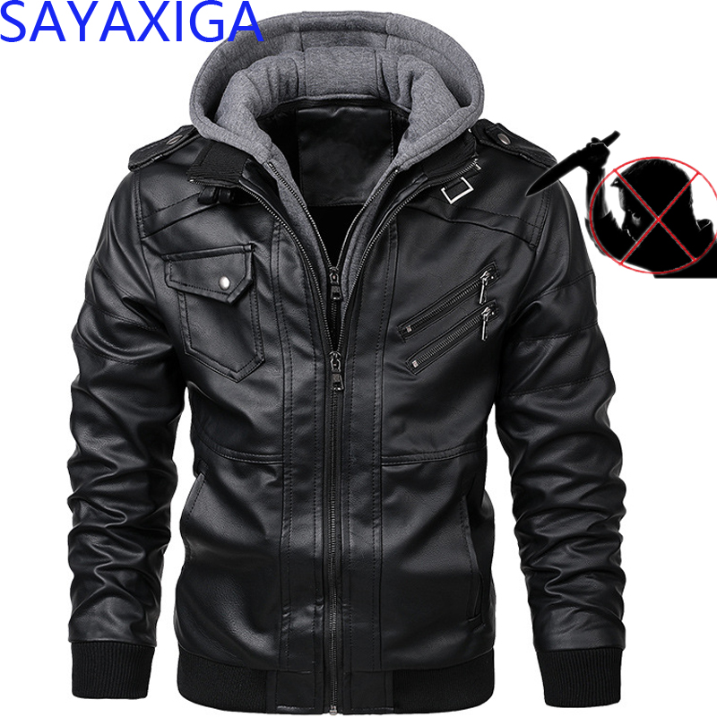 2019 Self defense anti cut PU leather jacket stab resistant clothing stealth civil using police Self protection cut proof blouseJackets   -