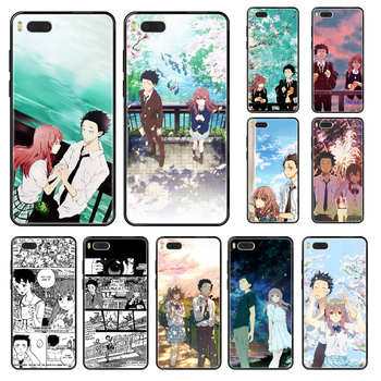 japan Koe no Katachi Anime Phone case For Xiaomi Redmi Mi 3 5 6 8 9 A1 2 Max3 Mix2 X SE Lite Pro black soft coque fashion back image