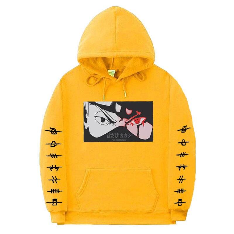 Japanese Anime Naruto Sweats /à Capuche Kakashi Pullover Streetswear Sweatshirts Cosplay