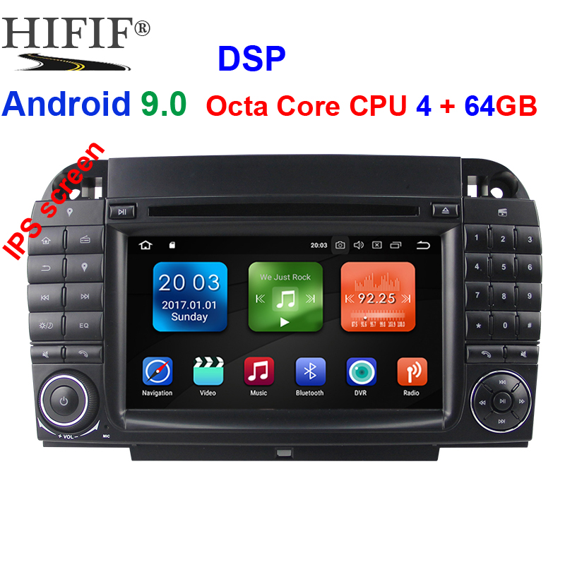 IPS Android 9.0 Car DVD GPS player For Mercedes <font><b>Benz</b></font> S-Class <font><b>W220</b></font> W215 S280 S320 S400 <font><b>S500</b></font> Radio SD Octa Core 4G RAM Navi USB SD image