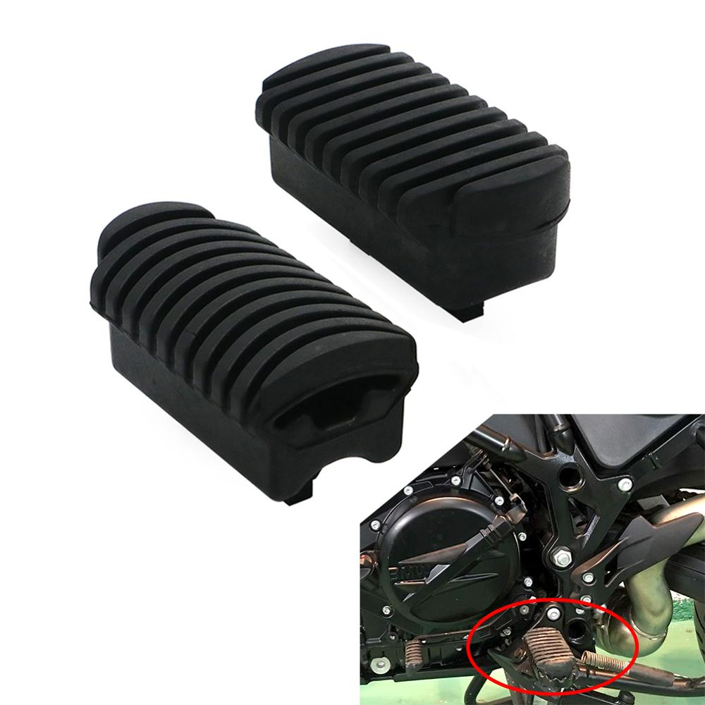 Motorcycle Front Footpeg Foot Plate Footrest Rubber For BMW F 650 <font><b>700</b></font> 800 <font><b>GS</b></font> F800GS 08-17 F700GS 13-17 F650GS 09-12 image