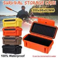 Красочный открытый ударопрочный водонепроницаемый ящик с набором для выживания герметичный чехол держатель для хранения спички инструмен...