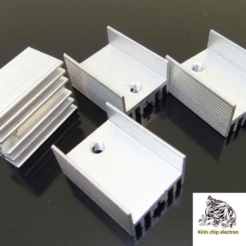 10PCS/LOT Darlington Transistor Radiator Aluminum Heat Sink Electronic Components Darlington Module Cooling