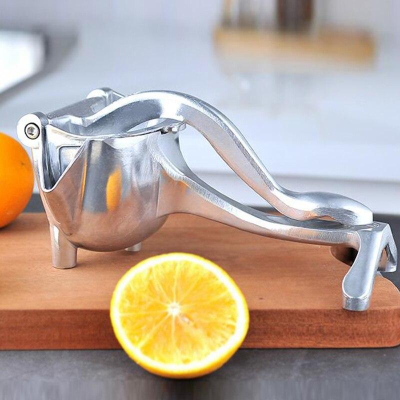 1PCS Handheld Obst Entsafter Tragbare Entsafter Edelstahl Durable Manuelle Entsafter Küche Home Baby Obst Entsafter Zitrone Clip Neue