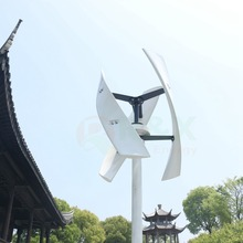 R&X 400W CE Vertical Wind Turbine X-shaped Energy Power Generator White 24v with Free Controller Queit Noiseless