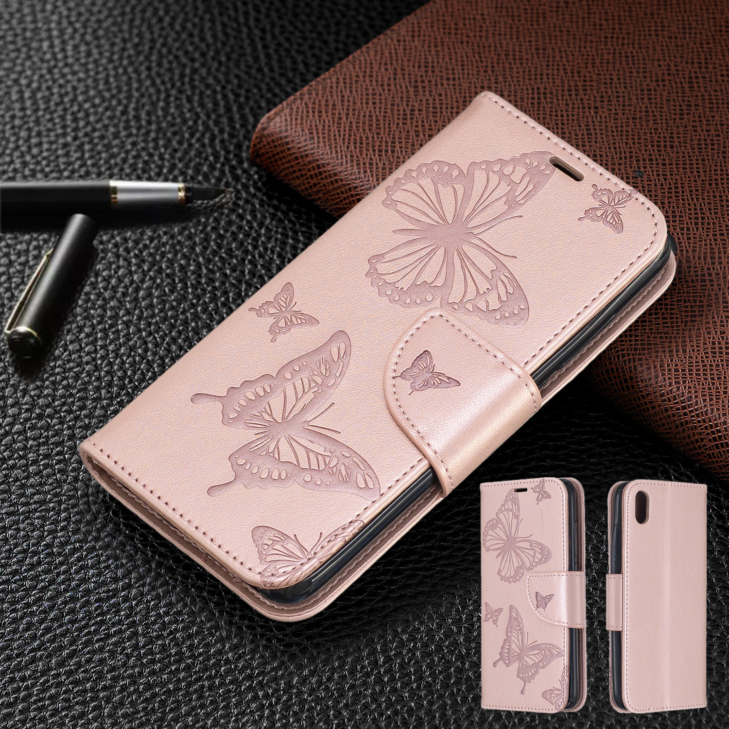 Butterfly Wallet Flip Case For Xiaomi Redmi K30 K20 8A 7A Note 8T 8 7 6 6A 6 Pro Case For Xiaomi Mi A2 Lite Leather Cover