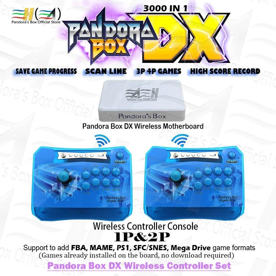 2021 Pandora Box DX 3000 in 1 2 Players Wireless controller set have 3P 4P  game Save game progress High score record 3D tekken