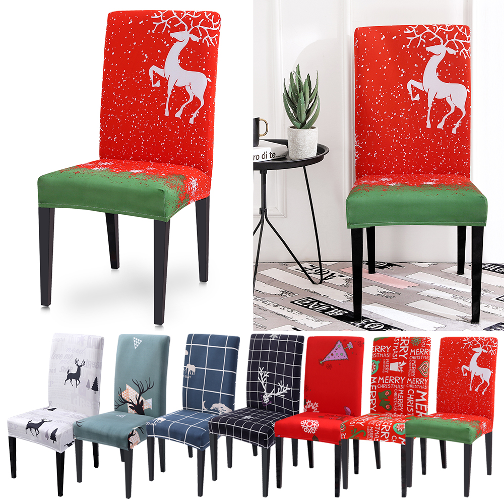 Christmas Decoration Stretch Home Decor Dining Chair Cover Spandex Chair Covers Seat Slipcovers Covering Office Banquet Hotel