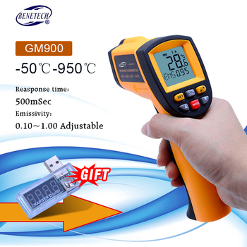 Digital laser thermometer temperature meter ir non contact Infrared thermometer gun -50~950C+Rechargeable Battery GIFT
