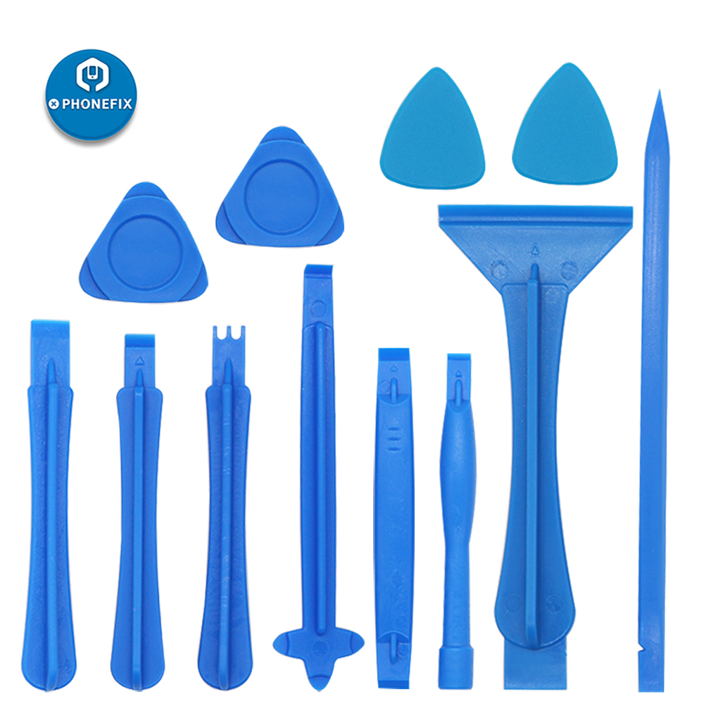 PHONEFIX 12 In 1 Plastic Spudger Pry Tools Phone Screen Opening Tool For Electronics Tool Kit Spudger Crowbar Pry Opening Tools